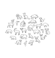 animal icons Zoo Animals vector image vector image