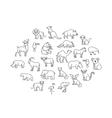 animal icons Zoo Animals vector image