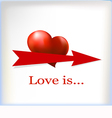 banner for text with a heart vector image vector image
