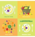 banners card with fresh fruits and berries vector image vector image