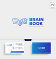 book brain education line logo template icon vector image vector image