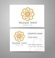 boutique brand logo vector image vector image