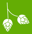 branch of hops icon green vector image vector image