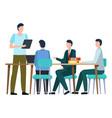 business meeting or seminar report worker vector image vector image
