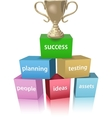 Business model win success trophy vector image vector image