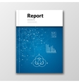 Business report design background with graphics vector image