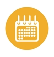 calendar or agenda button thumbnail icon image vector image