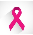 Cancer awareness ribbon vector image vector image