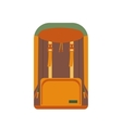 cartoon backpack icon vector image
