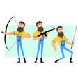 cartoon bearded lumberjack character set vector image vector image