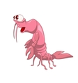 cartoon character crawfish vector image vector image