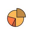 chart business diagram finance graph pie vector image