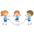 children play rope jumping vector image vector image