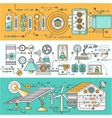 concept smart home and control device vector image vector image