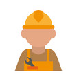 construction worker builder contractor icon image vector image