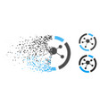 destructed dot halftone connections diagram icon vector image vector image