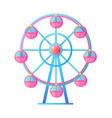 ferris wheel at amusement park attraction vector image vector image