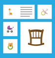flat child set of rattle nipple stroller and vector image vector image