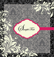 Floral invitation card with place for text vector | Price: 1 Credit (USD $1)