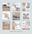 furniture social media promotion design collection vector image vector image