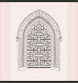 gothic gate hand drawn sketch vintage doors vector image