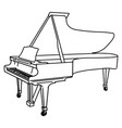 hand drawn piano doodle isolated on white vector image