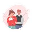 happy family father mother and their baby vector image vector image