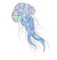 jellyfish on white background vector image vector image