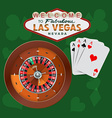 Las Vegas Roulette and Cards vector image vector image
