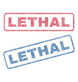 lethal textile stamps vector image vector image