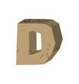 letter d stone font rock alphabet symbol stones vector image vector image