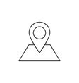Location icon outline vector image vector image