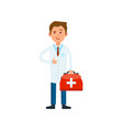 male doctor in white coat isolated vector image