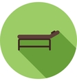 Massage Bed vector image
