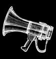 megaphone bullhorn sketch vector image