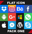 modern flat icon pack one image vector image vector image