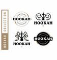 modern professional logo set hookah in gold vector image