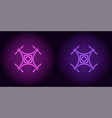 neon drone in purple and violet color vector image vector image