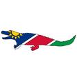 Nile crocodile Namibia vector image vector image