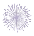 Pastel violet silhouette dandelion with pistils vector image