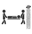 patient stretcher icon with men bonus vector image vector image