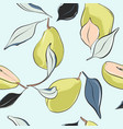 pear blossomnursery pattern hand-drawn fruit vector image