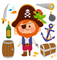 pirate captain set vector image
