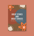poster template with shopping design for brochure vector image vector image