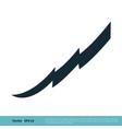 ribbon thunderbolt icon logo template design eps vector image vector image