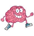 running brain vector image vector image