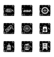 Sale icons set grunge style vector image vector image