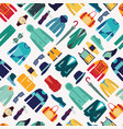 seamless pattern fashionable mens wear background vector image vector image