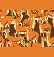 seamless pattern with of gazelles vector image vector image