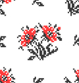 Seamless texture with abstract embroidered flowers vector image vector image
